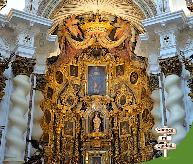 detalle retablo principal san luis