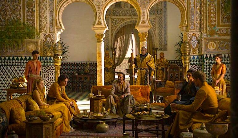 secuencia juego de tronos alcazar de sevilla salon embajadores
