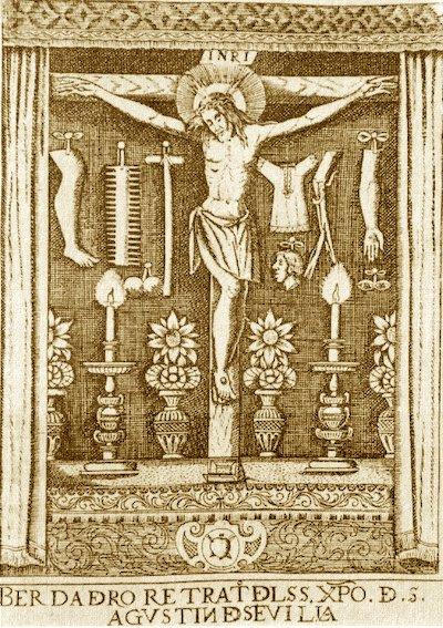 grabado cristo agustin la peste sevilla